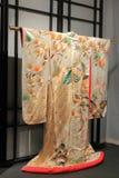 Kimono con los pavos reales Fotos de archivo libres de regalías
