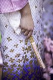 Kimono Dancer Fan Royalty Free Stock Image