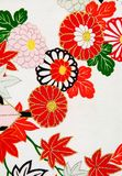 Kimono design III. Close up of the floral design on a Japanese kimono Royalty Free Stock Photos