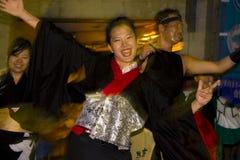 kimono för dansarefestivaljapan Royaltyfria Foton