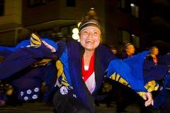 kimono för dansarefestivaljapan Arkivbild