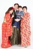 Kimono families Royalty Free Stock Images
