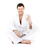 Kimono fighter Royalty Free Stock Photography