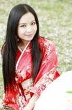 Kimono girl Stock Image
