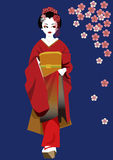 Kimono girl Royalty Free Stock Images