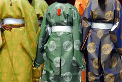 Kimono girls Royalty Free Stock Image