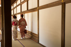 Kimono girls Royalty Free Stock Photography