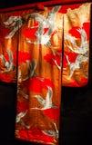 Kimono - Japans nationaal kostuum. Royalty-vrije Stock Afbeeldingen