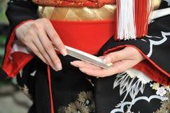 Kimono marriage Royalty Free Stock Image