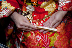 Kimono marriage Stock Images