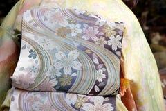 Kimono and obi Stock Images