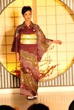Kimono show in Kyoto Stock Image