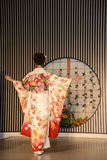Kimono show in Kyoto Royalty Free Stock Photography