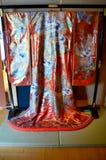 Kimono for show traveler at Kamigata Ukiyoe Museum Royalty Free Stock Photos
