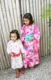 Kimono sisters Royalty Free Stock Photos