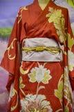 kimono Traditionell japansk klänning för kvinnor med garneringar Royaltyfri Foto