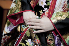 Kimono wedding Royalty Free Stock Photo