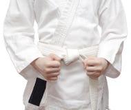 Kimono and a white belt. Stock Photos
