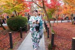 Kimono woman Royalty Free Stock Photography