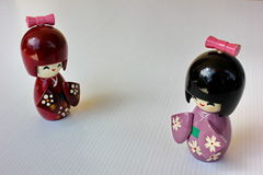 Kimono wood doll Royalty Free Stock Image