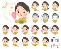 Kimono Yellow ocher women_beauty Royalty Free Stock Images