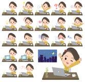 Kimono Yellow ocher women_desk work Stock Image
