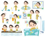 Kimono Yellow ocher women_Housekeeping Stock Images
