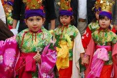Kimonoflickor Royaltyfri Bild