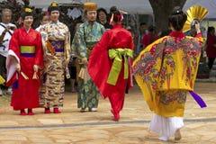 KimonoOkinawan arkivfoto
