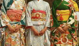 Kimonos japoneses Fotos de archivo libres de regalías