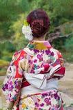 Kimonowa dziewczyna zdjęcie royalty free