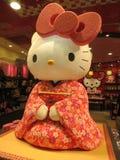 Kimonowa Hello Kitty Zdjęcia Royalty Free