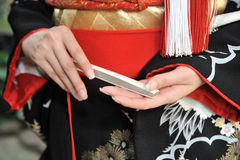 Kimonowy małżeństwo Obraz Royalty Free