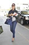 Kimora modèle Lee Simmons à l'aéroport de LAX Photos stock