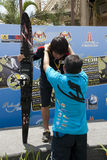 Kimsee Hyung, Korean Team. PUTRAJAYA, MALAYSIA - OCTOBER 9: The winners of open Men Slalom at 2011 IWWF Asian Waterski & Wakeboard Championships in Putrajaya Royalty Free Stock Image