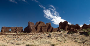 Kin Bineola Ruins, Chaco Canyon Royalty Free Stock Photo