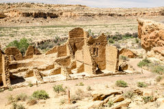 Kin Kletso Pueblo at Chaco Canyon Stock Image