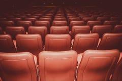 Kin siedzenia w czerwonych kolorach Fotografia Stock