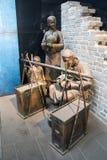 Kina Asien, Peking, huvudmuseet, folk skulpterar, grejar Arkivfoton