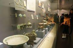 Kina Asien, Peking, huvudmuseet, Kampuchea Angkor reliker och Art Exhibition Arkivfoto