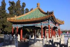 Kina Beijing Beihai parkerar Fem-Drake paviljonger Royaltyfria Bilder
