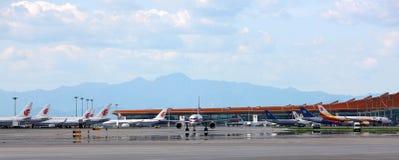 Kina Beijing Capitalflygplats arkivbild