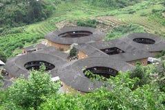 Kina byggnad för fujian jord Fotografering för Bildbyråer