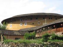 Kina byggnad för fujian jord Arkivbild