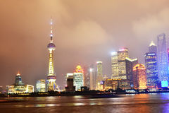 Kina byggnadsstad Shanghai Shanghai pudong Royaltyfri Foto