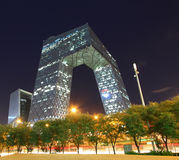 Kina CCTV-kontorsbyggnad i Peking Royaltyfria Foton