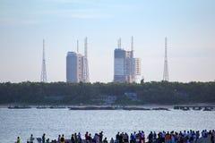 Kina Changzheng raket CZ-7 Arkivfoton