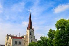 Kina Changzhou Christian Church Royaltyfria Bilder