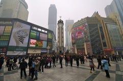 Kina Chongqing stad, kinesiskt nytt år Arkivbilder