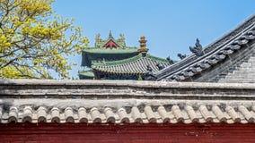 Kina den Shaolin kloster Arkivbilder
